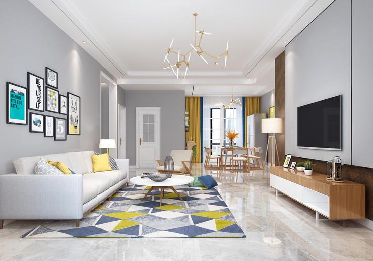 现代客厅卧室